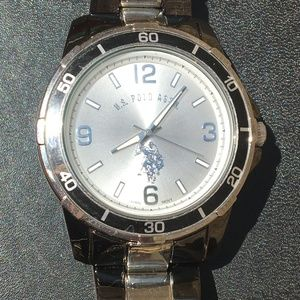 3 FOR $12 U.S Polo Assn Mens Silver Black Watch